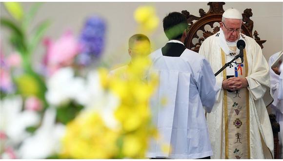 Prensa chilena muestra foto de baja concurrencia a última misa de Papa Francisco