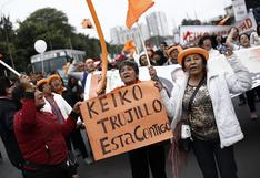 Keiko Fujimori: Simpatizantes de Fuerza Popular realizan una marcha en distrito de Jesús María