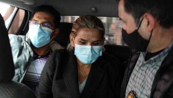 """Áñez está en prisión desde hace más de un mes por el caso llamado """"golpe de Estado"""" basado en denuncias de supuesta conspiración, sedición y terrorismo durante la crisis política y social que se produjo a finales de 2019.  (Foto: LUIS GANDARILLAS / AFP)"""