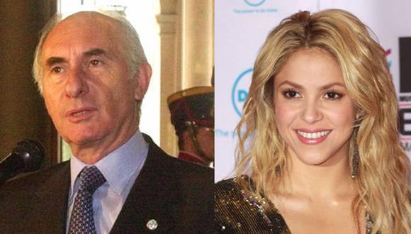Shakira despide a su exsuegro De la Rúa