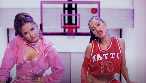 """""""Ram Pam Pam"""", la nueva canción de Becky G y Natti Natasha. (Foto: Captura YouTube)"""