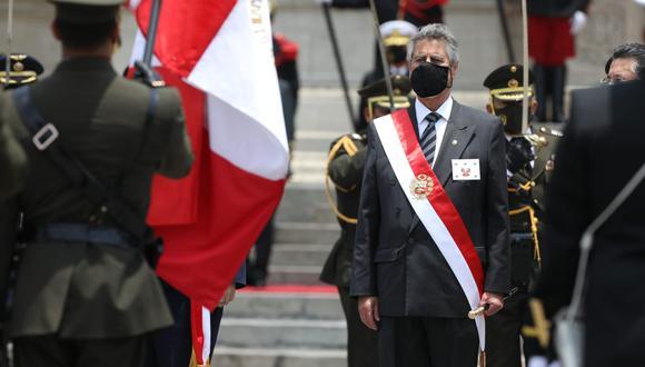 Presidente Francisco Sagasti es reconocido por las Fuerzas Armadas en el Palacio de Gobierno. (Foto: Britanie Arroyo / GEC)