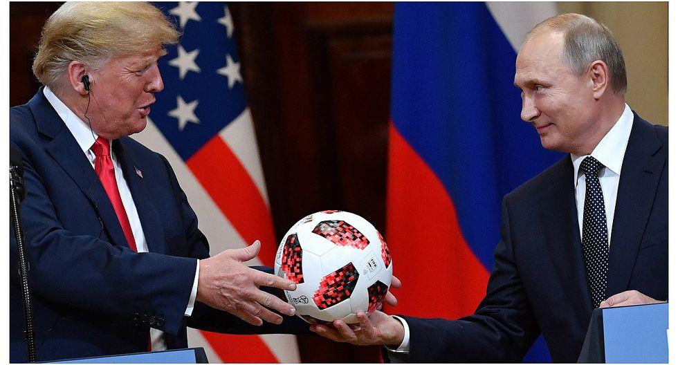Vladimir Putin le regaló a Donald Trump la pelota del Mundial Rusia 2018 (VIDEO)