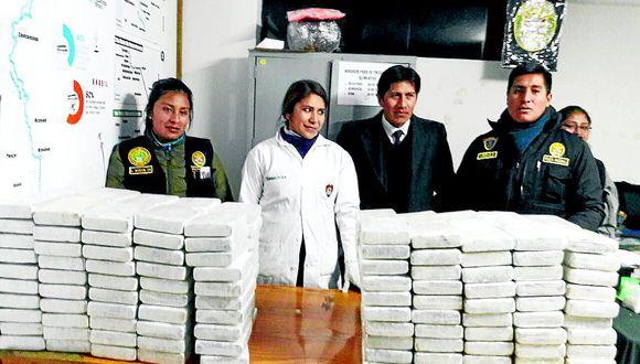 1 818 kilogramos droga fueron incautado en la región durante el año 2018