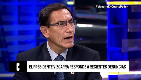 Martín Vizcarra se pronunció luego de que El Comercio revelara el testimonio de tres aspirantes a colaboración eficaz sobre un supuesto pago de S/ 1.3 millones. (Foto: Captura América TV)