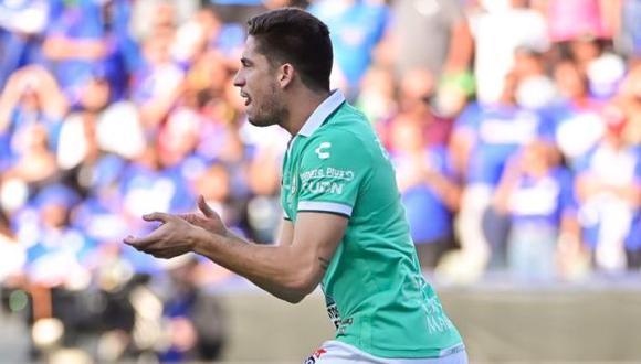 Santiago Ormeño debutó con gol en León, que perdió 2-1 a manos de Cruz Azul. (Club León)