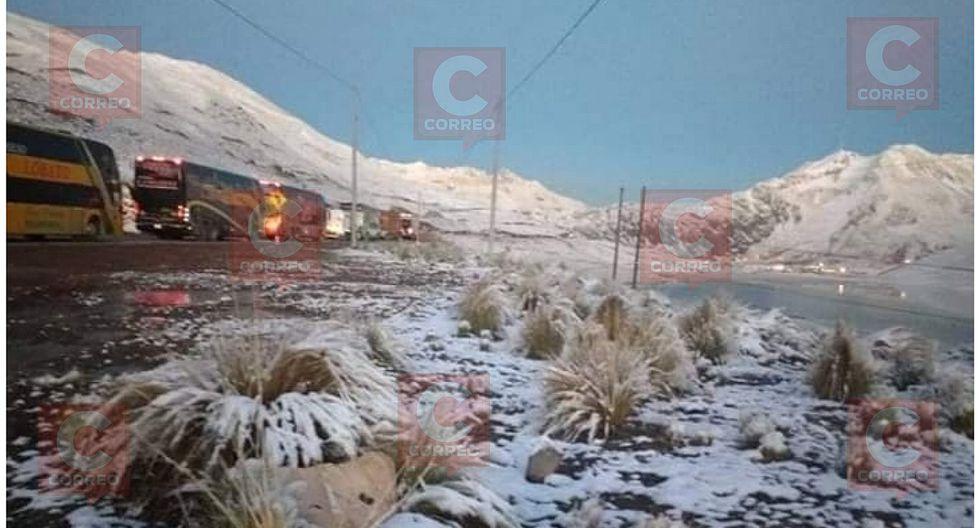 Ticlio: Pase restringido en la Carretera Central debido a intensa nevada (FOTOS)