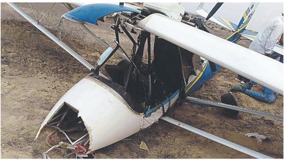 Al parecer, el hombre realizaba una prueba en el aire cuando, de pronto, se quedó sin combustible. La Policía llegó hasta el lugar del accidente.