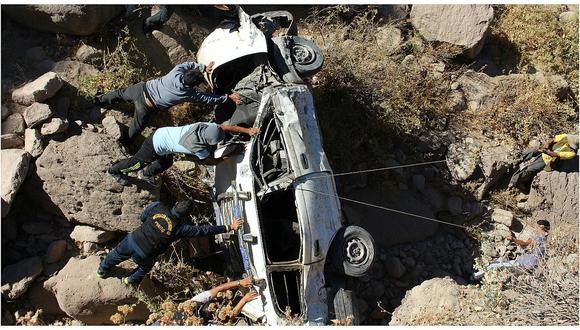 Huancayo: Auto es tumba de chofer y copiloto