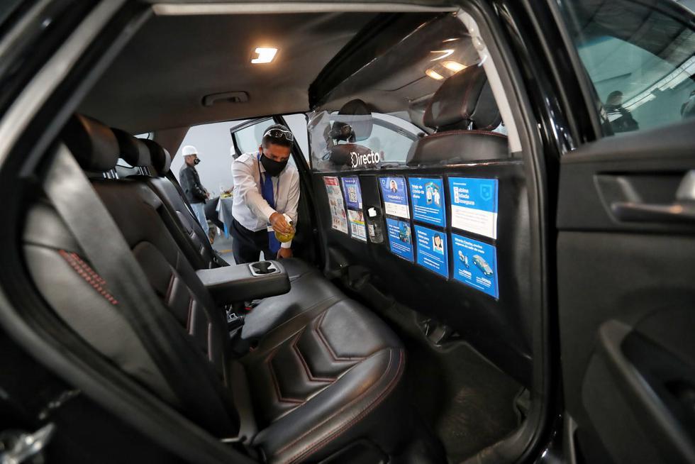 MTC presenta protocolo sanitario que deben tener los servicios de taxi formales para operar. (Foto: Giancarlo Avila/GEC)