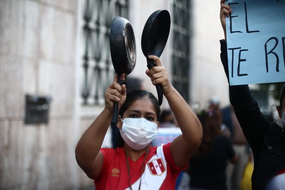 Salieron a protestar en las calles del Cercado de Lima. (Foto: Jesús Saucedo/ @photo.gec)