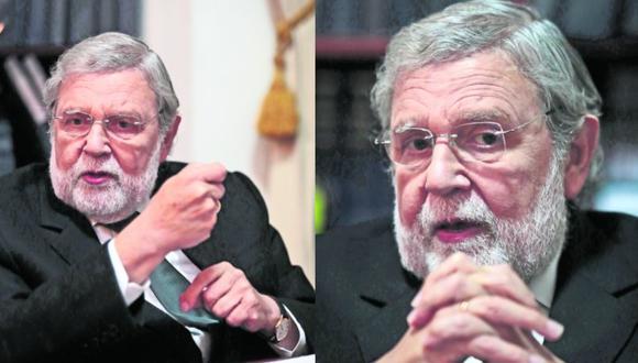 """Ernesto Blume: """"No es correcto que Vizcarra pretenda imponer una posición al TC"""". Foto: Hugo Pérez"""