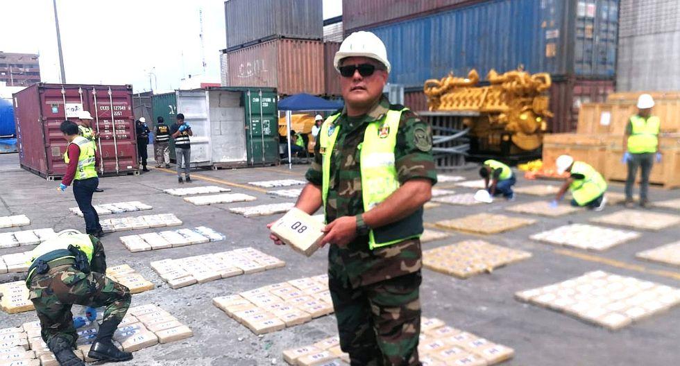 Incautan más de 2 toneladas de droga en terminal del Callao (FOTOS)