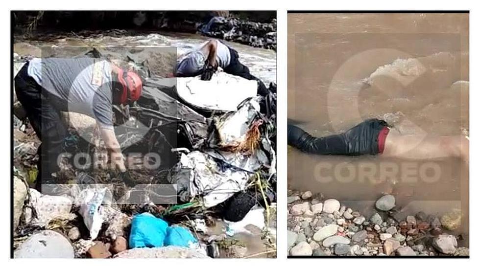 Hallan cadáver de un varón y el vehículo que cayó al río
