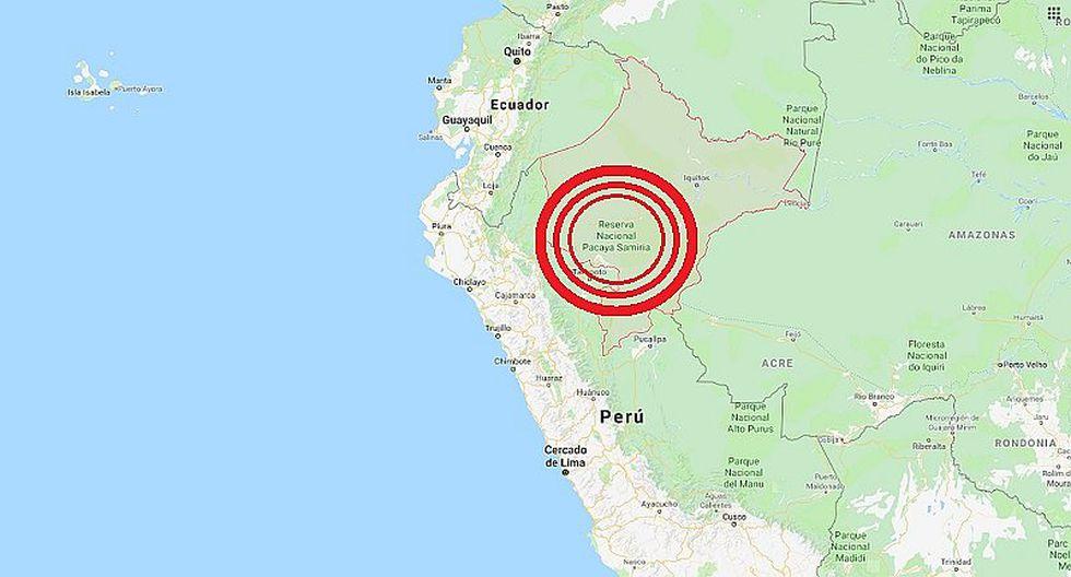 Loreto: sismo de magnitud 5.8 se registró en Alto Amazonas