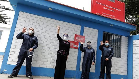 La titular del sector, Rosario Sasieta Morales, supervisó cada espacio de los establecimientos de dos Centro Emergencia Mujer (CEM), ubicados en los distritos limeños San Miguel y Pueblo Libre. (Foto: MIMP)