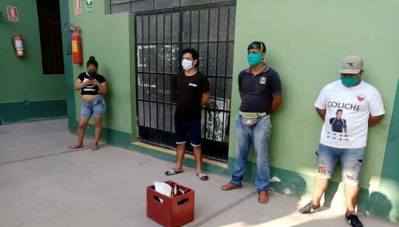 Chiclayo. Policías sorprendieron en flagrante delito a seis personas en un bar clandestino. (GEC