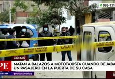 Matan a mototaxista en el Día del Padre, en Comas (VIDEO)