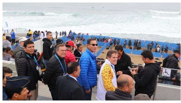 Yeni Vilcatoma cuestionó presencia de Martín Vizcarra en la final de surf de Lima 2019