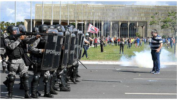 Michel Temer retira tropas de Brasilia en medio de fuertes críticas (FOTOS Y VIDEO)