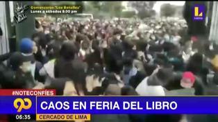Ocho heridos dejó desmanes en Feria Metropolitana del Libro Lima Lee (VIDEO)