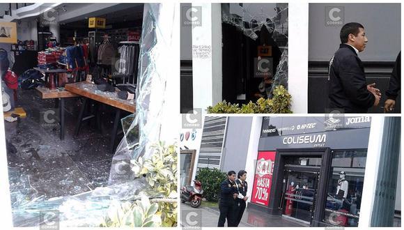 San Isidro: a combazos intentan robar en tienda de ropa (FOTOS Y VIDEO)