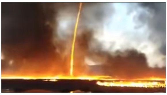 Tornado de fuego genera terror en ciudadanos de Inglaterra (VIDEO)