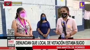 Denuncian que baños de local de votación no contaban con agua ni papel higiénico (VIDEO)