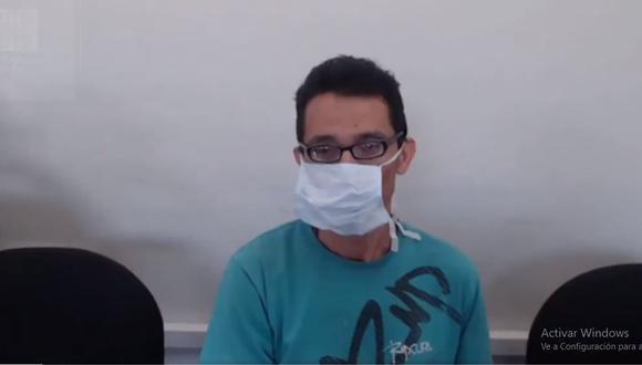 Mario Antonio Mendoza Huidobro escuchó la sentencia desde el penal de Cañete, donde se encuentra recluido. (Foto: Corte Superior de Justicia de Lima Norte)