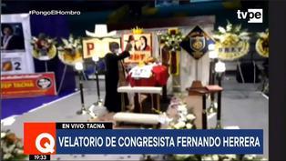 Restos del congresista Fernando Herrera son velados en Tacna (VIDEO)