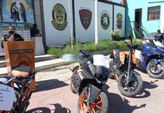 Policía recupera cinco motocicletas robadas que fueron traídas desde Lima a Ayacucho