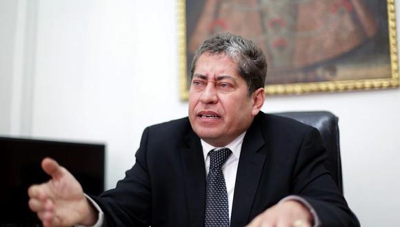 El magistrado Eloy Espinosa-Saldaña aseguró que no se inhibirá del proceso de demanda competencial. (Foto: GEC)