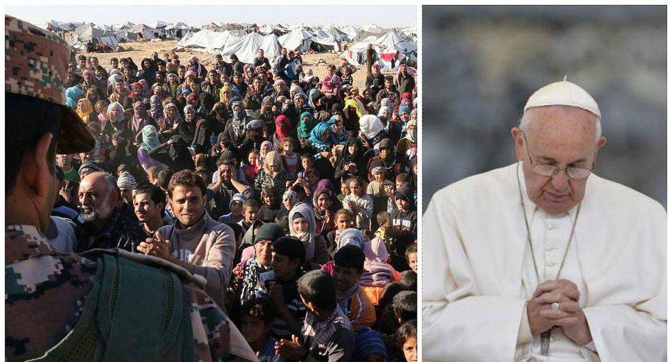 """Papa Francisco: """"Algunos centros de refugiados parecen campos de concentración"""""""