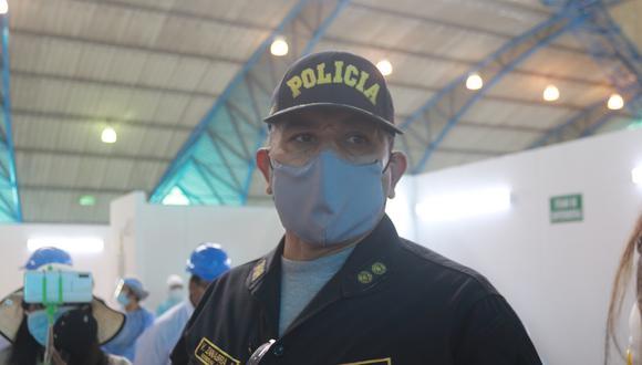 Jefe de la IX Macrepol, general PNP Víctor Zanabria Angulo, exhorta a no realizar fiestas| Foto: Pedro Torres