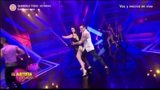 """Christian Domínguez se presentó como refuerzo de Pamela Franco en el """"El artista del año"""" (VIDEO)"""