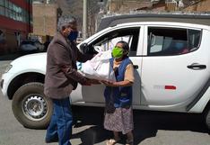 Trabajadores de Electrocentro entregan víveres a familias pobres de Huánuco