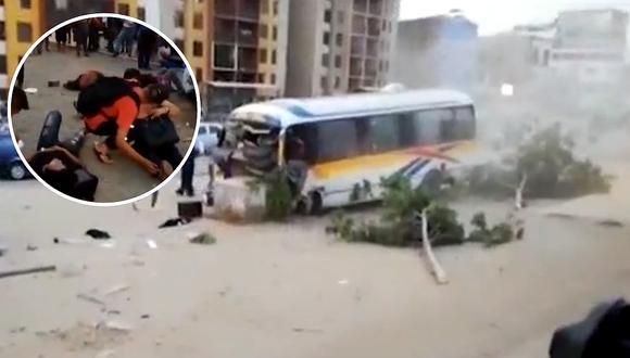 Los Olivos: Cúster se despista dejando 15 heridos y chofer huye junto al cobrador