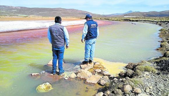Por meses las aguas amarillentas llegaron hasta el valle de Tambo. (Foto: Difusión)