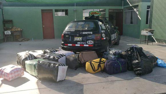 En Sama Las Yaras intervienen a un taxi repleto de mercadería de segundo uso