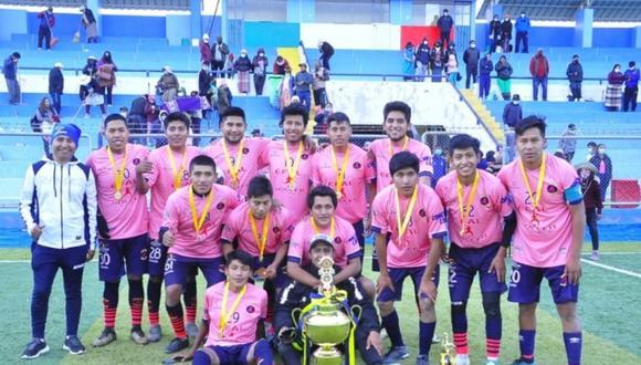 Escuela Efal Soccer de Juliaca fue el mejor en sub-21. (Foto: Difusión)