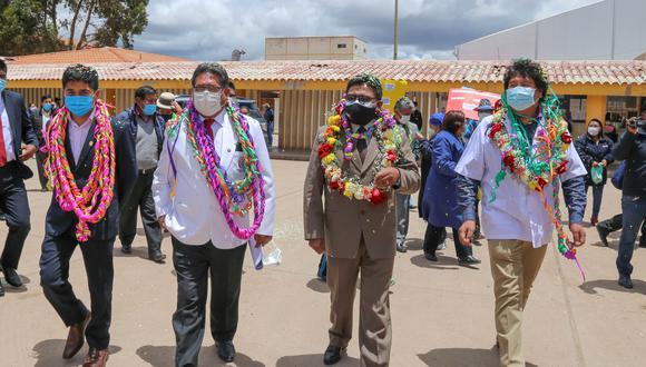El candidato, aún director de la Red de Salud de San Román, participó en la actividad. (Foto: Difusión)