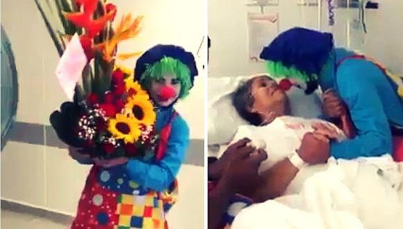 Facebook: hombre se vistió de payaso para darle el 'último adiós' a su abuelita (VIDEO)