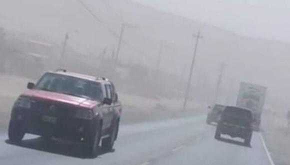 Terral impidió la correcta visualización de la carretera durante varias horas, no se reportaron heridos de ningún tipo. (Foto: Difusión)