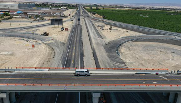 La doble vía Pisco - Ica estará finalizada para el segundo trimestre del 2021.