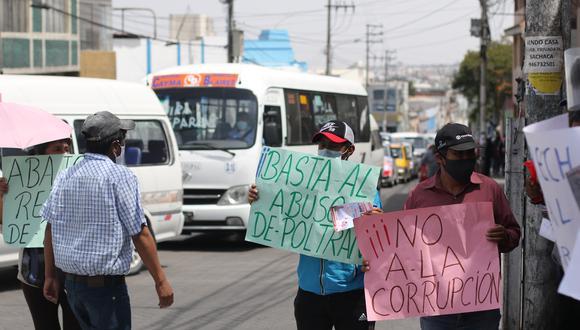 Conductores piden derogar Ordenanza que permite el retiro de placas  Foto: Eduardo Barreda