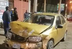 Conductores resultan con lesiones leves en choque vehicular