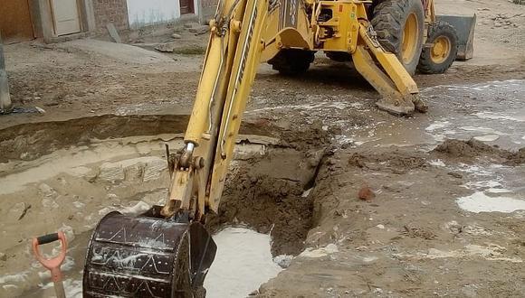 Rotura de tubería afecta viviendas en Pisco