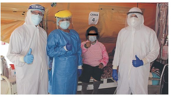 Chimbote: Madres de 77 y 56 años son dadas de alta en La Caleta luego de vencer el coronavirus