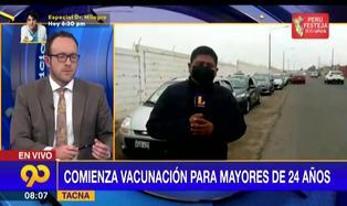 Tacna inicia este sábado vacunación de mayores de 24 años (VIDEO)