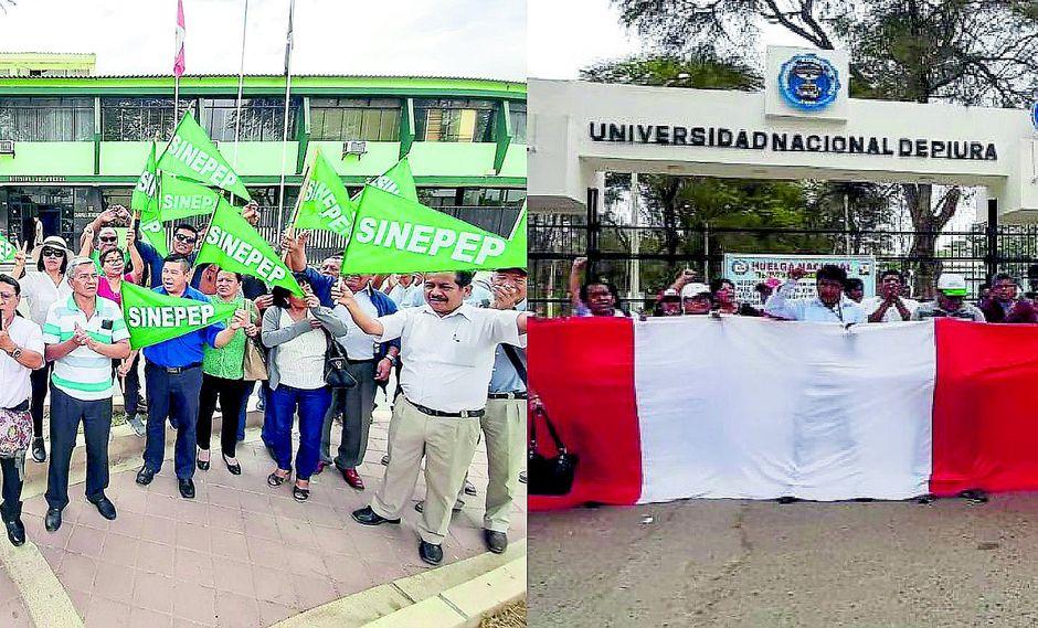 Día de paro de trabajadores estatales en Piura por bajos sueldos